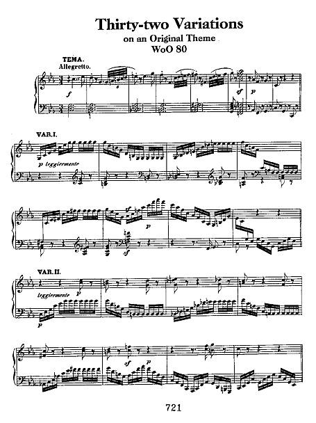 32 Variations on an Original Theme c-minor WoO 80 - Piano