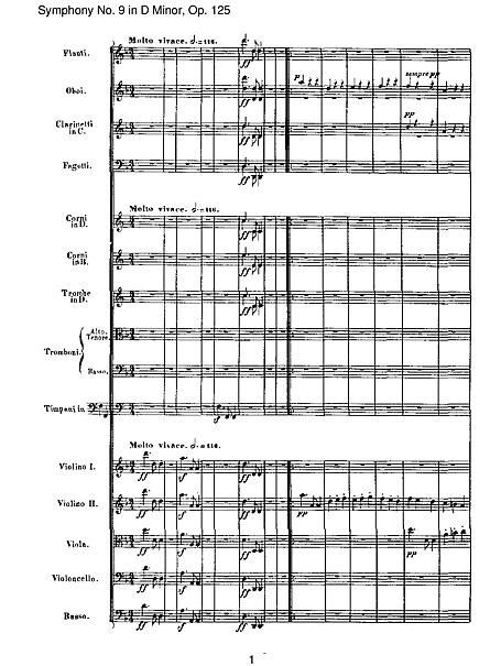 Symphony No  9 2  Scherzo: Molto vivace - Presto (full score