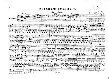 The Marriage of Figaro (Le nozze di Figaro) Overture (piano duet