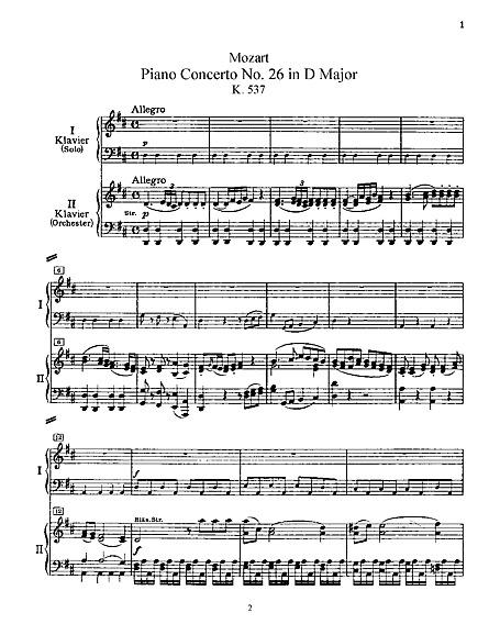 Piano Concerto No  26 Piano Duet - Piano duet - Sheet music