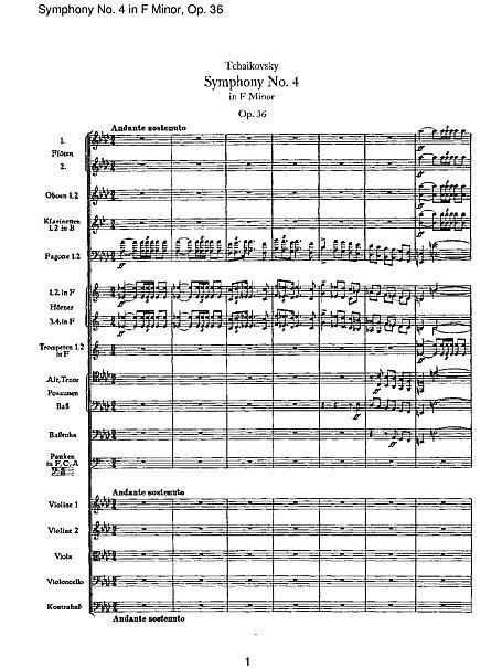 Symphony No. 4, Movement 1 - Full Score