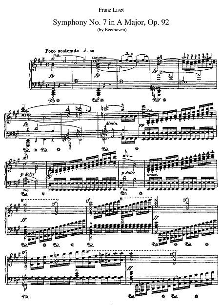 Symphony No  7 Piano reduction - Piano - Sheet music - Cantorion