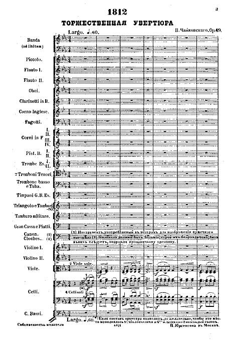 1812 Overture Full score - Orchestra - Sheet music