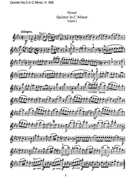 String Quintet No. 2 in C Minor, K. 406: I. Allegro