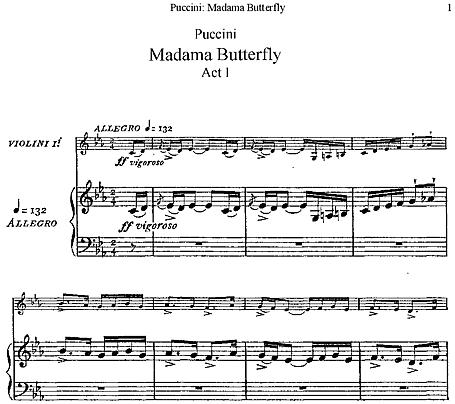 Madama Butterfly Vocal score (Italian) - Voice, Piano