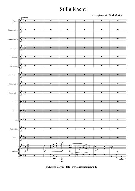 Silent Night (Stille Nacht, heilige Nacht) Orchestra